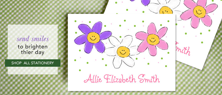 kids stationery and personalized thank you notes