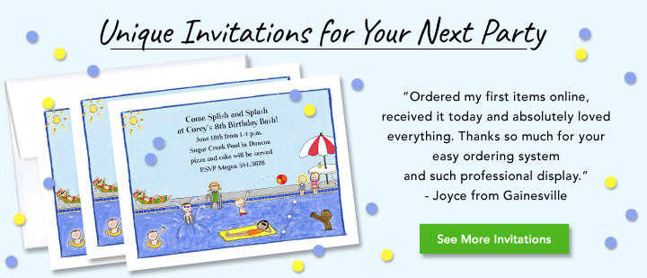 Personalized Party Invitations For Children Adults